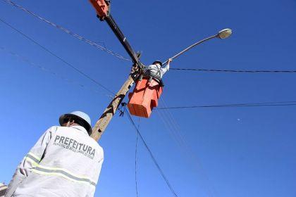 Notícias de Águas Lindas- Prefeitura de Águas Lindas substitui iluminação pública do município