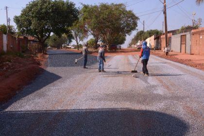 Notícia de Águas Lindas – Jardim Guaíra recebe obras de pavimentação asfáltica