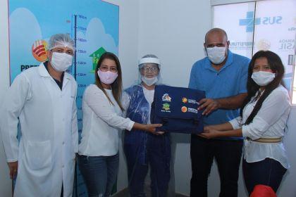 Notícia de Águas Lindas – Agentes Comunitários de Saúde recebem kits para auxiliar nos atendimentos