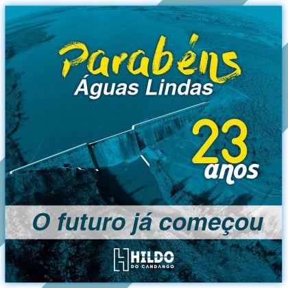 Hildo do Candango celebra aniversário de 23 anos de emancipação política de Águas Lindas de Goiás