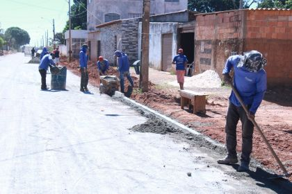 Notícia de Águas Lindas – Setor Coimbra recebe obras de infraestrutura