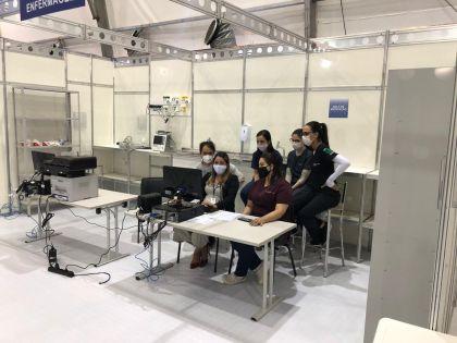 Notícia de Águas Lindas – Profissionais da saúde que atuarão no Hospital de Campanha de Águas Lindas recebem treinamento
