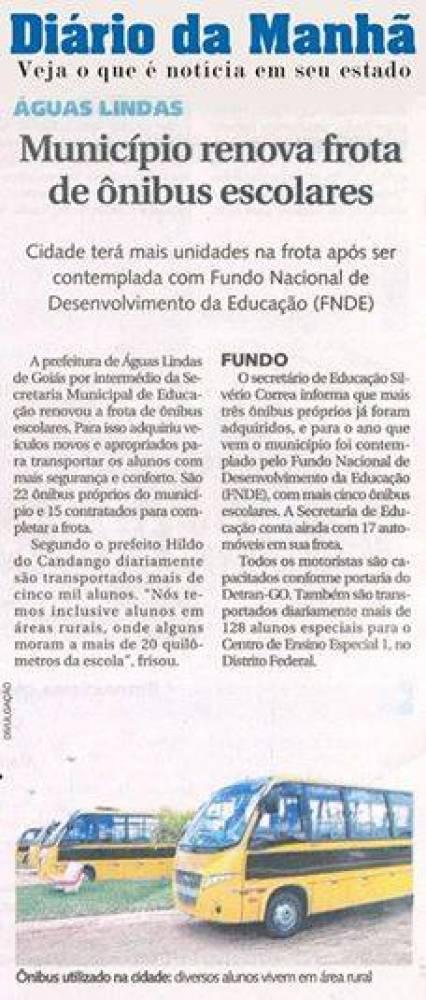 Prefeito Hildo do Candango de Águas Lindas de Goiás renova frota de ônibus escolares, entorno de Brasília