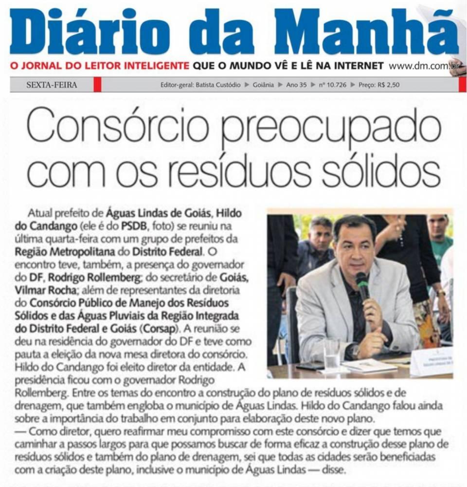 Prefeito de Águas Lindas de Goiás, Hildo do Candango preocupado com os resido sólidos.