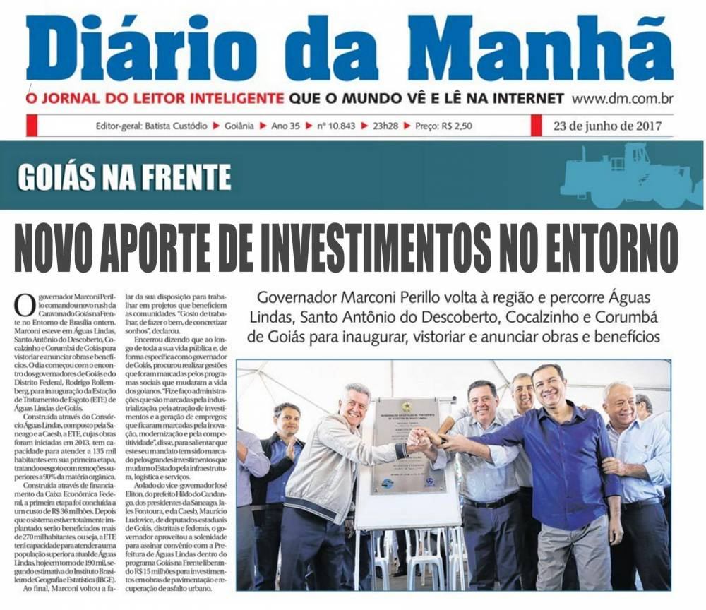 Novo aposte de investimento no Entorno de Brasília