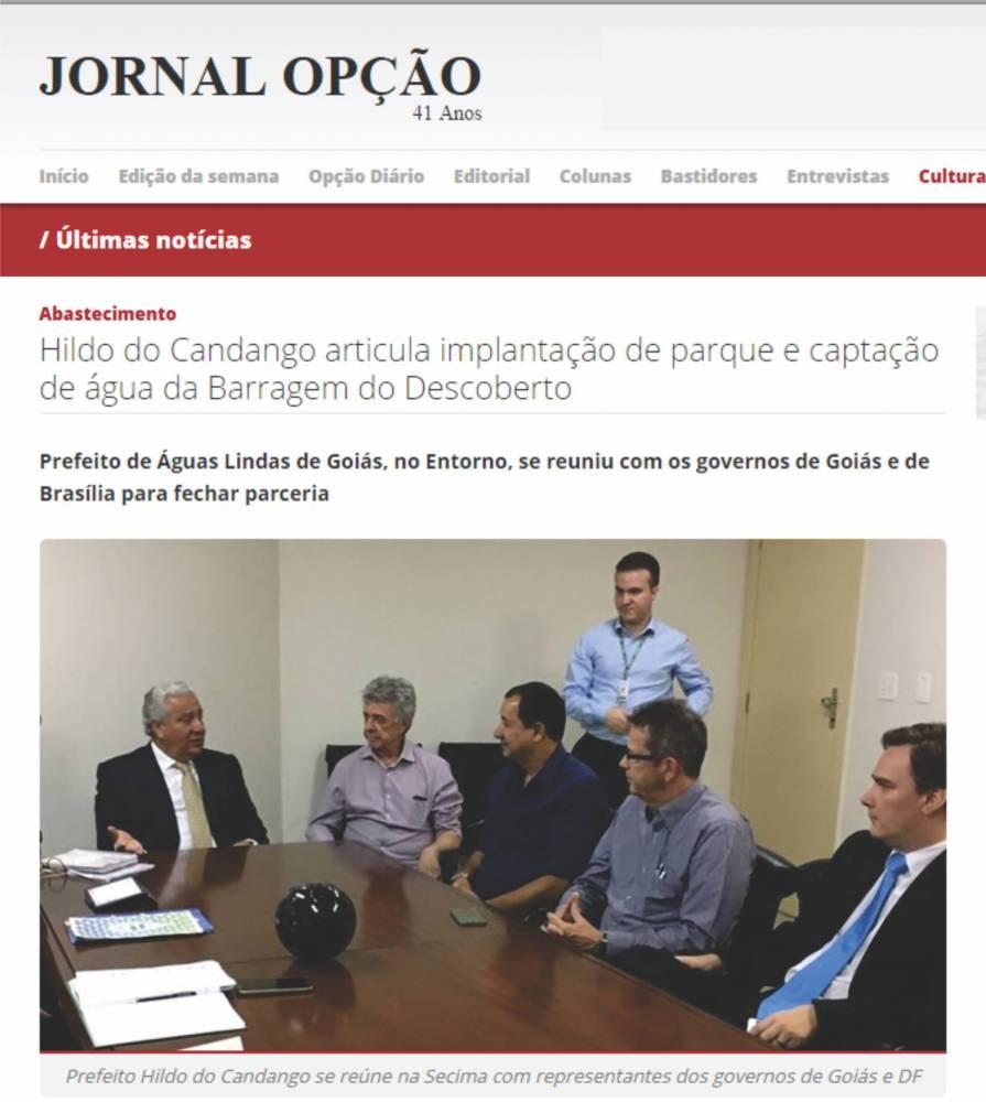 Prefeito de Águas Lindas de Goiás articula com governadores de Brasília e de Goiás, melhorias para Águas Lindas de Goiás.