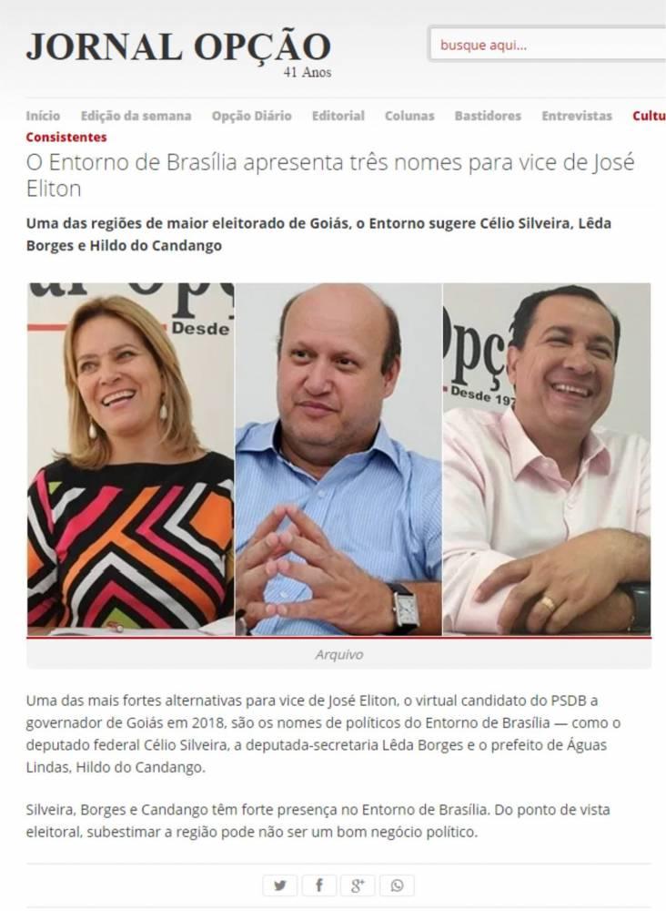Prefeito Hildo do Candango é a melhor opção para vice Governador de  Goiás, representando o Entorno de Brasília.