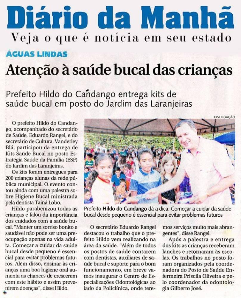Prefeito de Águas Lindas de Goiás, Hildo do Candango entrega kits de saúde bucal para crianças no Entorno de Brasilia